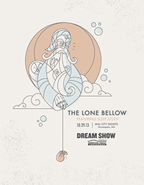 The Lone Bellow in Minneapolis Concert Poster